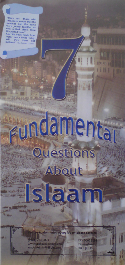 7 Fundamental questions